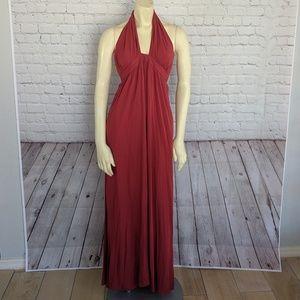 rokoko   Red Halter Maxi Dress Size S